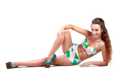 Young sexy woman in swimsuit Stock Image