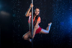 Young sexy woman  Water studio photo Stock Photos