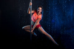 Young sexy woman  Water studio photo Royalty Free Stock Photography