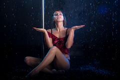Young sexy woman  Water studio photo Royalty Free Stock Photo