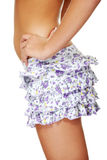 Young sexy woman wearing short skirt Royalty Free Stock Photos