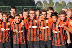 Young Shakhtar teams portraits Stock Photos