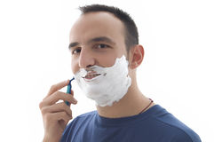 Young  shaving Royalty Free Stock Images