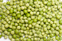 Young shelled green peas background Royalty Free Stock Image