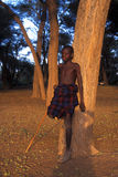 Young shepherd Turkana (Kenya) Royalty Free Stock Image