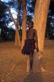 Young shepherd Turkana (Kenya) Royalty Free Stock Image