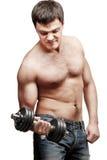 Young shirtless muscular man Stock Images