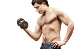 Young shirtless muscular man Royalty Free Stock Images