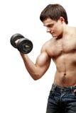 Young shirtless muscular man Royalty Free Stock Photo