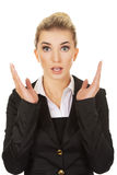Young shocked businesswoman. Young blonde beautiful shocked businesswoman Stock Photos