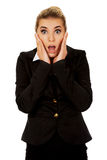Young shocked businesswoman Royalty Free Stock Image