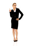 Young shocked businesswoman. Young blonde beautiful shocked businesswoman Stock Images