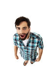 Young shocked man with mouth open. Stock Images