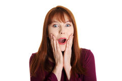 Young shocked woman . Stock Photography