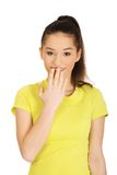Young shocked woman. Stock Photography