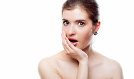 Young shocked woman Royalty Free Stock Photo