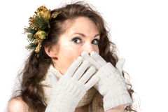 Young shoked woman Royalty Free Stock Photography