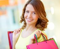Young shopaholic Stock Image