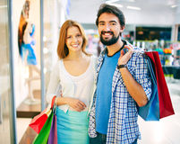 Young shoppers Stock Photo