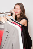 Young shopping fun. Royalty Free Stock Images