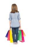 Young shopping girl back Stock Photos