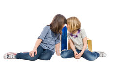 Young shopping sisters or daughters looking at each other Royalty Free Stock Images