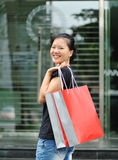 young shopping woman Royalty Free Stock Photography