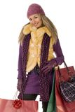 Young Shopping Woman Royalty Free Stock Images