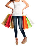 Young shopping woman Royalty Free Stock Photo