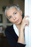 Young short haired woman Stock Photos