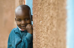 Young Shy African Boy Royalty Free Stock Images
