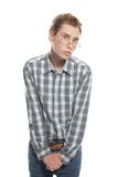 Young Shy Man Stock Images