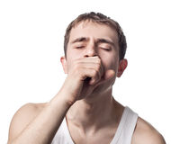 Young sick man Stock Image