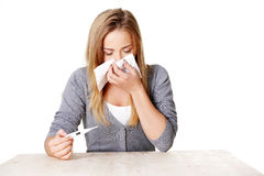 Young sick teenage woman Stock Photo