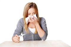 Young sick teenage woman Stock Photo