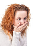 Young sick woman Royalty Free Stock Images
