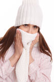Young sick woman Stock Images