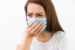 Young sick woman got flu Royalty Free Stock Image