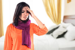 Young sick woman having cold Stock Images