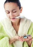 Young sick women Stock Images