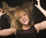 Young silly crazy girl Stock Photos
