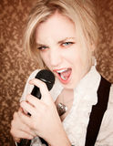 Young Singer Royalty Free Stock Images