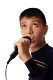Young singer Stock Images