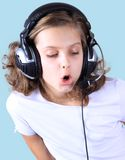 The young singer Stock Photography