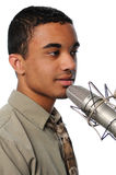 Young Singer Performing Stock Photography