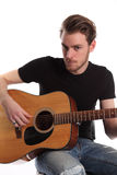 Young singer songwriter Royalty Free Stock Photo