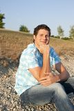 Young single man Stock Images