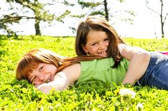 Young Sisters Royalty Free Stock Images