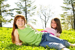 Young sisters Royalty Free Stock Photos