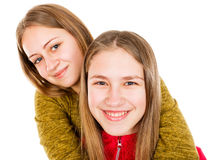 Young sisters fighting Royalty Free Stock Images